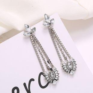 Nuevos pendientes geométricos retro pendientes de perlas colgantes pendientes exagerados joyería de oreja étnica salvaje simple al por mayor nihaojewelry NHJJ225353's discount tags