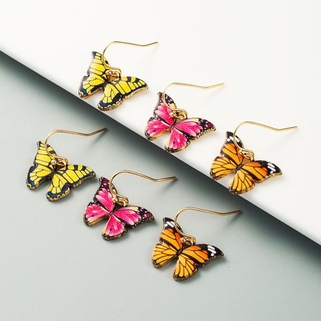 Korean explosion model butterfly earrings alloy drip super fairy forest girl style earrings wholesale nihaojewelry NHLN225362's discount tags