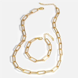 fashion hip-hop accessories HIPHOP Cuban chain gold necklace choker thick chain necklace wholesale nihaojewelry NHAS225368's discount tags