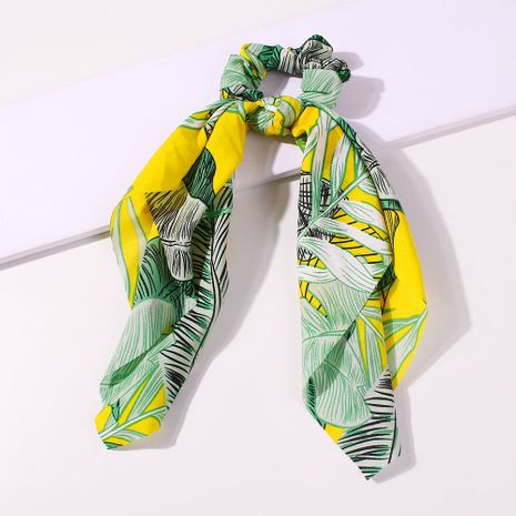 new hair scrunchies bow hair ring fashion wild printing series color hair band hair accessories wholesale nihaojewelry NHMD225380's discount tags