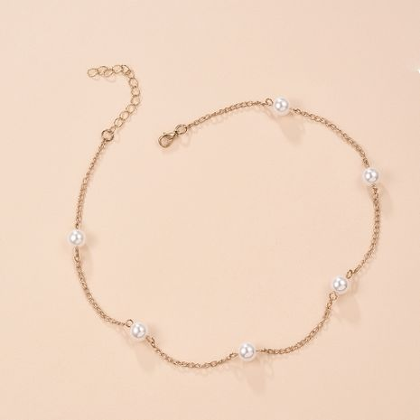 Korea new simple pearl necklace neck chain clavicle wholesale nihaojewelry  NHMD225396's discount tags