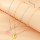 fashion jewelry sweet and cute pink bear necklace temperament tide butterfly necklace set wholesale nihaojewelry NHNZ225422