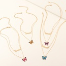 fashion jewelry new trend letters necklace color butterfly pendant wholesale nihaojewelry NHNZ225423