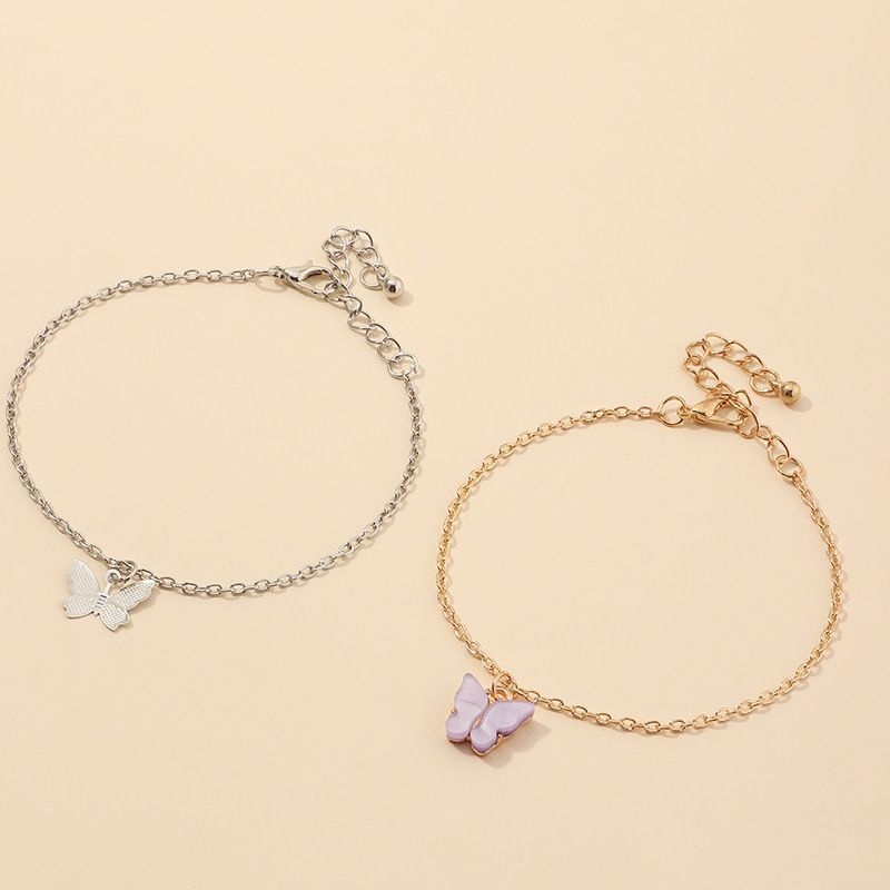 fashion jewelry wild butterfly bracelet temperament purple butterfly jewelry wholesale nihaojewelry NHNZ225433