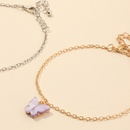 fashion jewelry wild butterfly bracelet temperament purple butterfly jewelry wholesale nihaojewelry NHNZ225433