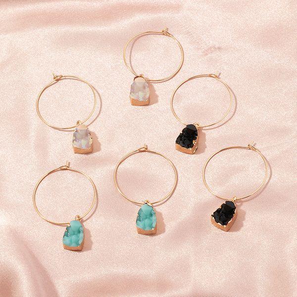 fashion jewelry simple geometric earrings multicolor irregular resin pendant earrings wholesale nihaojewelry NHNZ225434
