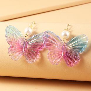 joyería de moda popular Symphony esmaltado acrílico mariposa pendientes al por mayor nihaojewelry NHNZ225436's discount tags