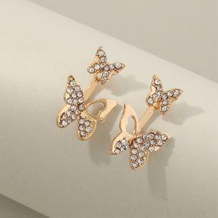 joyería de moda doble uso después de colgar aretes de mariposa con incrustaciones de diamantes al por mayor nihaojewelry NHNZ225440's discount tags
