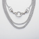 bijoux de mode punk chane simple en forme de U collier de mode portecls anneau sauvage multicouche collier en gros nihaojewelry NHXR225449