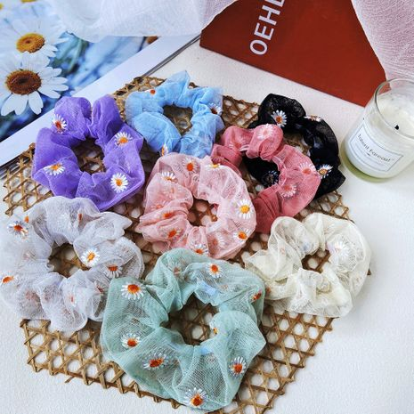 French hair scrunchies retro simple head rope tie head brandy hair with headdress wholesale nihaojewelry NHPJ225473's discount tags