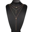 mode chane de clavicule collier court pendentif pull chane cristal dot collier multicouches en gros nihaojewelry NHPJ225485