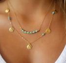 creative retro personality simple clavicle chain metal strip geometric triangle tassel womens short necklace wholesale nihaojewelry NHPJ225493