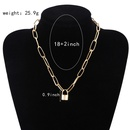 new jewelry personality retro geometric necklace sweater chain simple lockshaped wild temperament clavicle chain wholesale nihaojewelry NHPF225505