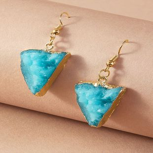 fashion new light luxury earrings simple personality creative retro triangle senior sense earrings wholesale nihaojewelry NHKQ225522's discount tags
