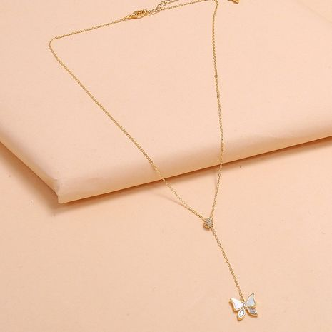 fashion super fairy forest small high-level clavicle chain simple trend exquisite wild butterfly necklace wholesale nihaojewelry NHKQ225524's discount tags
