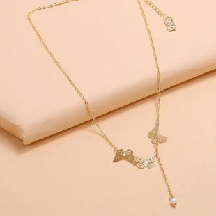 Korea delicate necklace fashion trend personality simple hollow butterfly clavicle chain wholesale nihaojewelry NHKQ225525's discount tags