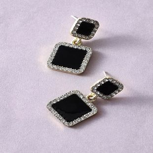 Korea simple square earrings fashion trend small and exquisite diamond long geometric earrings wholesale nihaojewelry NHKQ225527's discount tags