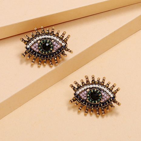 Korea new fashion trend eyes earrings simple retro earrings wholesale nihaojewelry NHKQ225538's discount tags