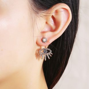 personality trend super flash light luxury earrings Japanese and Korean fashion retro simple demon eye geometric delicate earrings wholesale nihaojewelry NHKQ225545's discount tags