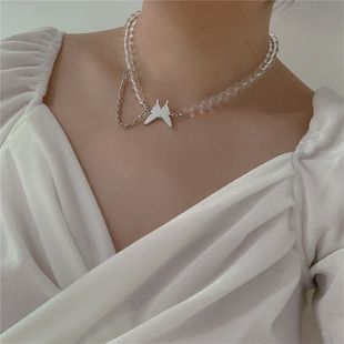 Diseño original nueva mariposa punk wind tassel choker collar asimétrico simple al por mayor nihaojewelry NHYQ225589's discount tags