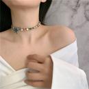 zircon diamond butterfly necklace choker clavicle chain bracelet wholesale nihaojewelry NHYQ225594