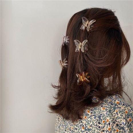 Butterfly hairpin Korean hairpin pearl head hairpin catch clip simple clip headdress hair catch clip hair accessories wholesale nihaojewelry NHYQ225602's discount tags