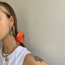 South Korea earrings French retro emerald love gas wild quality earrings wholesale nihaojewelry NHYQ225618