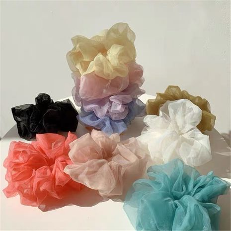 retro root yarn large hair scrunchies chiffon tied hair elastic tie hair rope head rope wholesale nihaojewelry NHYQ225628's discount tags
