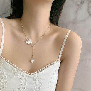 Corea collar nicho francés natural concha mariposa collar cadena de clavícula venta al por mayor nihaojewelry NHYQ225629's discount tags