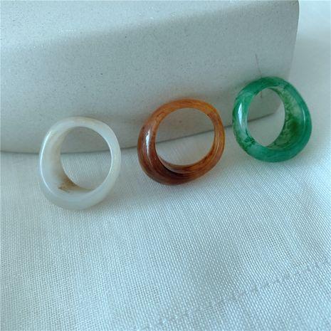 Corée empilé niche de mode résine tricolore bague française gros nihaojewelry NHYQ225660's discount tags