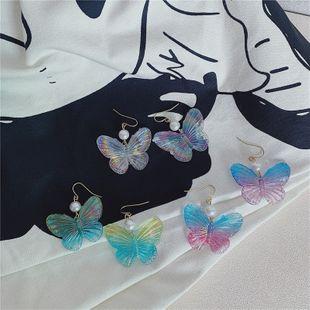 Corea del Sur nuevos pendientes nicho elegante mariposa exquisita acrílico gancho de oreja salvaje al por mayor nihaojewelry NHYQ225670's discount tags