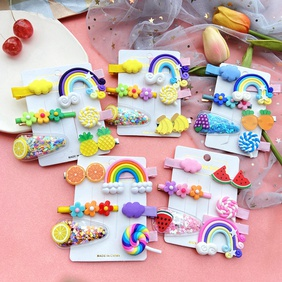 Hairpin Korean child bangs clip side clip girl baby headdress combination wholesale nihaojewelry NHPJ225689