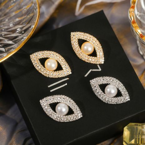 fashion  simple geometric devil eyes rhinestone earrings wholesale nihaojewelry NHLA225691's discount tags