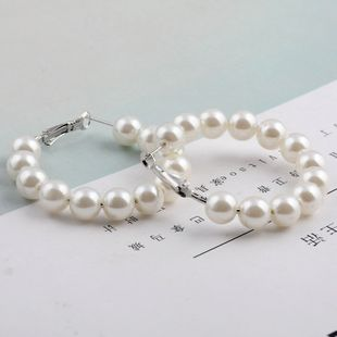 fashion jewelry bohemian creative imitation pearl handmade beaded earrings wholesale nihaojewelry NHGO225709's discount tags