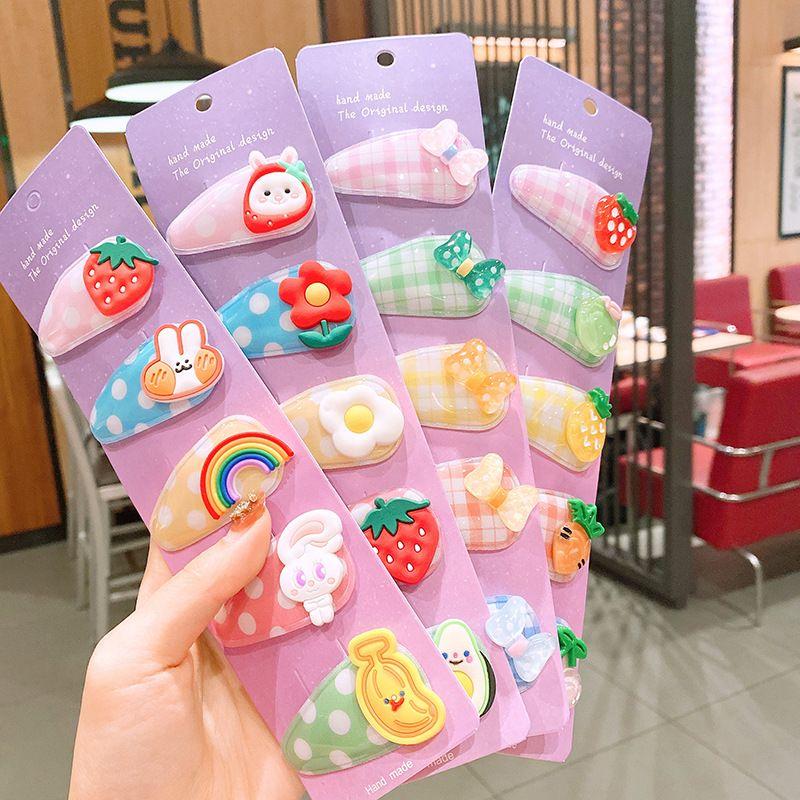 Children hairpin bb clip card broken hair baby hair accessories clip Korean girl hairpin headdress princess cartoon bangs clip wholesale NHSA225720