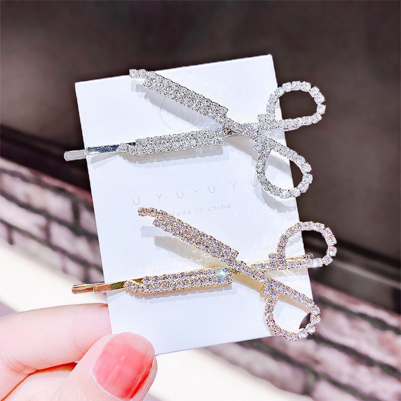 Scissors Hairpin Diamonds Hairpin Fashion Girl Hair Accessories wholesale nihaojewelry NHNA225757