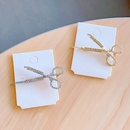 Scissors Hairpin Diamonds Hairpin Fashion Girl Hair Accessories wholesale nihaojewelry NHNA225757