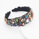 Baroque style headband color rhinestone gem geometric prom catwalk hair ornament wholesale nihaojewelry NHWJ225766