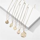fashion jewelry retro totem Indian head coin alloy pendant necklace wholesale nihaojewelry NHLU225801