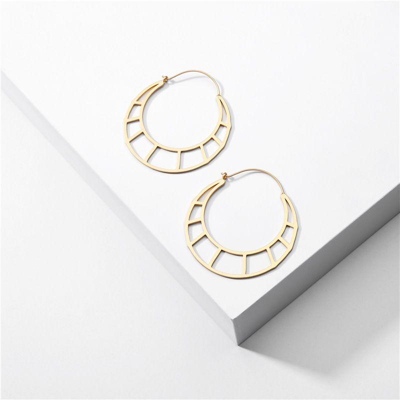 fashion jewelry geometric hollow irregular round earrings exaggerated ladies earrings wholesale nihaojewelry NHLU225812
