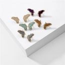 fashion jewelry explosion models butterfly earrings wrapped wire wings earrings wholesale nihaojewelry NHLU225820