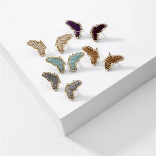 modelos de explosión de joyería de moda pendientes de mariposa pendientes de alas de alambre envuelto nihaojewelry al por mayor NHLU225820's discount tags