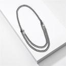 new jewelry simple metal chain double short necklace wholesale nihaojewelry NHLU225826