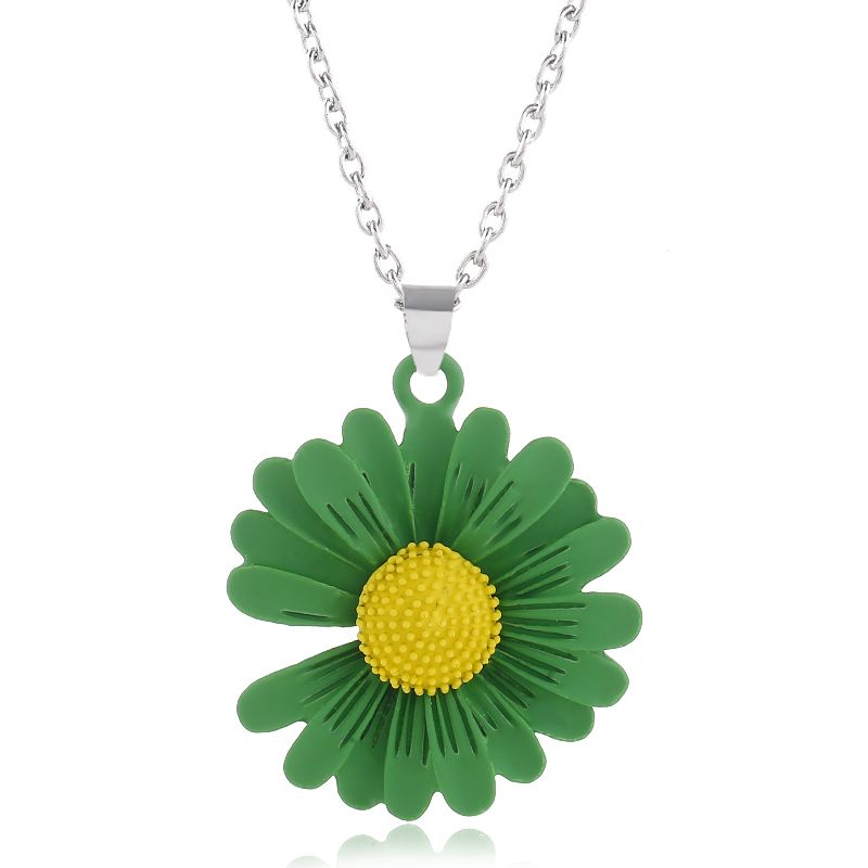 fashion metal simple and wild chrysanthemum necklace wholesale nihaojewelry NHSC226297