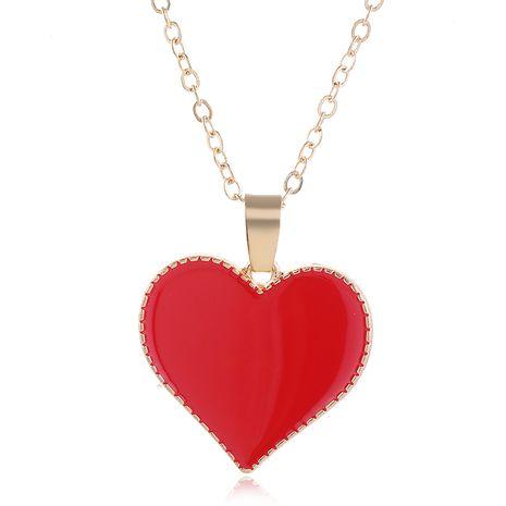 Mode coréenne douce couleur contraste amour collier en gros nihaojewelry NHSC226301's discount tags