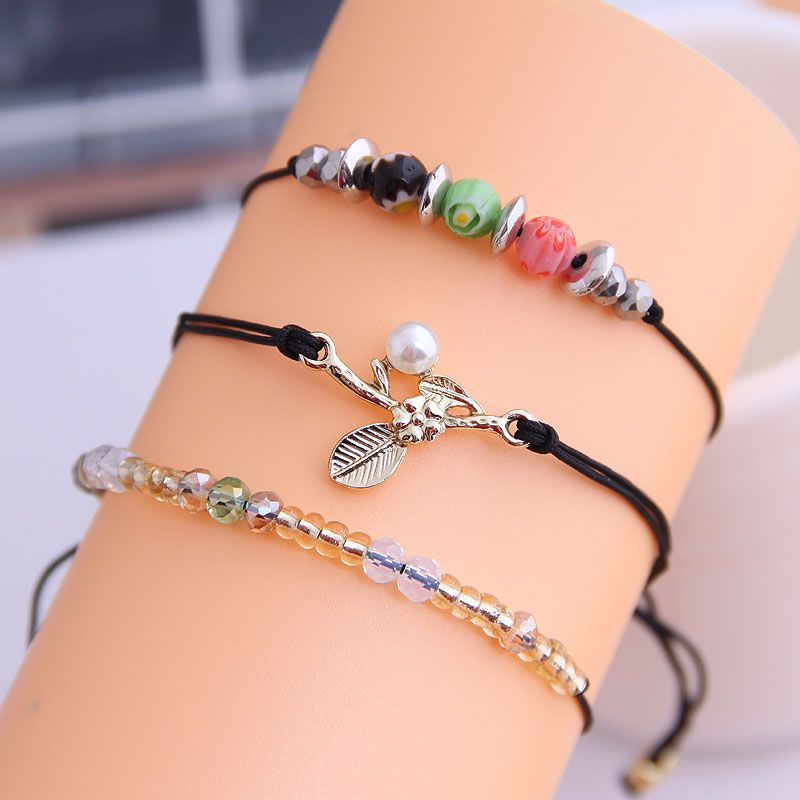 Korean delicate threelayer bracelet wholesale nihaojewelry NHSC226303