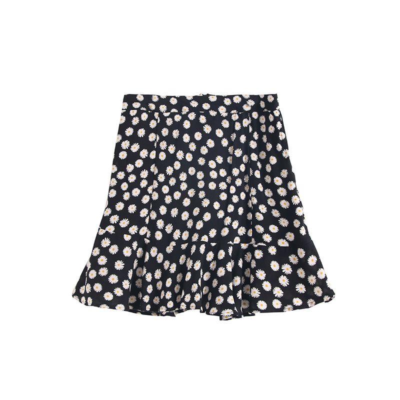 small daisy skirt summer floral short skirt bag hip fishtail skirt wholesale nihaojewelry NHAM225850