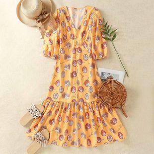 Summer Roman Portrait Print X Dress en gros nihaojewelry NHAM225885's discount tags
