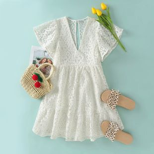 Summer Silk Silk Embroidered Little Daisy Dress wholesale nihaojewelry NHAM225890's discount tags
