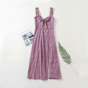 vestido de tirantes con estampado de flores de verano al por mayor nihaojewelry NHAM225952's discount tags